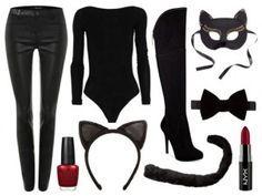 Disfraz de Gatubela, encuentra más opciones en disfraces caseros para este Halloween aquí..http://www.1001consejos.com/8-sencillos-disfraces-caseros-para-mujer/