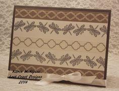 Lost Coast Designs Dragonfly Border stamp with washi tape by Karen McAlpine