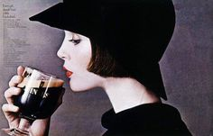 Every girl should have a little black drink. Guinness ad.