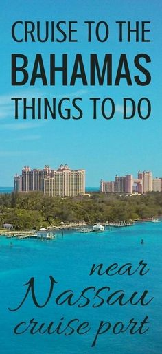 For self-guided excursions in Nassau during your Bahamas vacation, here are cruise tips and ideas for things to do near Nassau cruise port! Alternatives to Atlantis and Paradise Island trips that are cheap and free activities, as long as you don't mind a Bahamas Vacation, Bahamas Cruise, Nassau Bahamas, Cruise Port, Cruise Travel, Cruise Vacation, Vacation Trips, Vacation Travel, Beach Travel