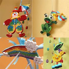 Quilled Baby mobile crib mobile nursery mobile by lacartaincantata, $80.00