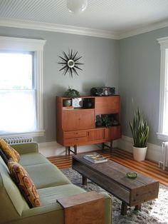 Wonderful Mid Century Modern Living Room - consider coffee table design as future side table.