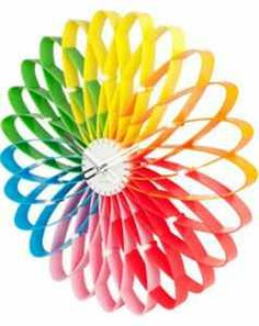 Buy Karlsson Spirograph Wall Clock - Multi Colour online and save! The classic geometric drawing toy of the and is back as the inspiration for this oversized designer wall clock from Dutch brand Karlsson. Eclectic Clocks, Rainbow Colors, Vibrant Colors, Rainbow Stuff, Rainbow Wall, Colours, Rainbow Bedroom, Rainbow Things, Colour Colour