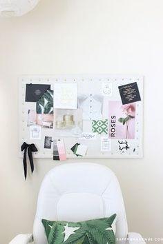Inspiration board idea.  #saffronavenue #mommymailbox #office http://www.mommymailbox.com/