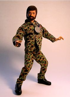 Vintage Hasbro fuzzy-headed 70s GI Joe 12""