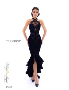d6a23e1026 Tarik Ediz 93452 Spring 2018 Evening Couture Crepe Dress. Sherri Hill Prom  Dresses