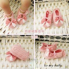 Handmade Crochet Baby Shoes Crocheting Baby Shoes by MiniBeeBee, $8.99