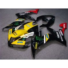 Yamaha YZF-R1 2004-2006 Injection ABS Fairing - Monster - Black/Yellow | $639.00
