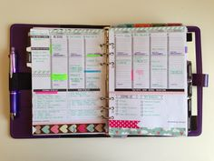 I like how 'MyPurpleyLife' used the Passion Planner weekly template on 2 pages for her planner. Find the free template @ www.passionplanner.com