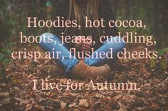 I love fall! My favorite season.