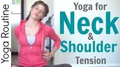 yoga neck and shoulder stretches - YouTube