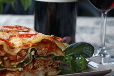 Lasagna with spinach - the perfect recipe! Spinach Lasagna, Perfect Food, Pasta, Ethnic Recipes, Pasta Recipes