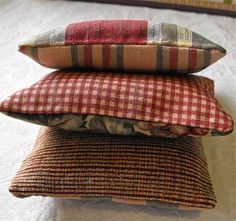 Set of Three Upcycled  Upholstery Sample Fabric by cleanbreak, $10.00