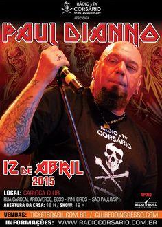 Paul Di´Anno, primeiro vocalista do Iron Maiden, responsável pelas vozes nos dois primeiros álbuns da Donzela de Ferro, está de volta ao Brasil. Após anunciar sua aposentadoria em 2013, o frontman não conseguiu ficar longe dos palcos e retorna ao país para mais uma série de apresentações. Em São Paulo, o show está confirmado para…