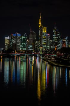 Frankfurt by night. Been there only once, but I love this city!