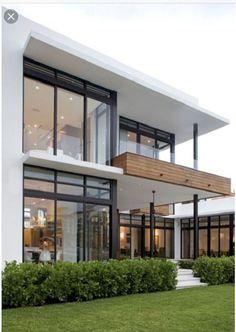 Modern Exterior Home Ideas: 18 Modern Glass House Exterior Designs Modern Glass House, Modern House Design, Modern Interior Design, Contemporary Design, Glass House Design, Contemporary Architecture, Contemporary Houses, Minimalist Architecture, Loft Design