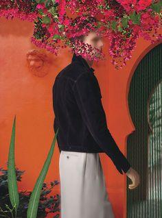 Jacket by Burberry Prorsum. Pants by Ermenegildo Zegna Couture.