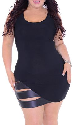 Want To (Plus/Black)-Great Glam is the web's best sexy plus size online store clothing website for 1X 2X and 3X clothes for women and juniors.