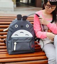 NEW Gray My Neighbor Totoro School Backpack Totoro Bag Free shipping
