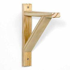 """Potomac 10.5"""" x 9"""" Wood Shelf Bracket, Unfinished"""
