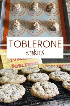 Toblerone Recipes. Toblerone Cookies.I had the idea to try the Swiss Toblerone chocolate in cookies. I wasn't sure how the nougat bits would taste or if they would melt or stay intact. After giving it a try, I was super glad I did. The little nougat pieces add the tiniest bit of crunch. They taste amazing! Easy Bread Recipes, Cookie Recipes, Dessert Recipes, Toblerone Chocolate, Chocolate Heaven, Easy Desserts, Delicious Desserts, Butter Recipe, Cookies
