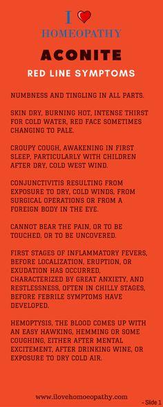 RED LINE SYMPTOMS OF ACONITE