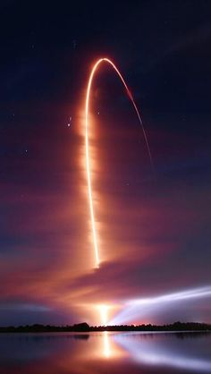 This graceful arc traces an Atlas V rocket climbing through Thursday's early morning skies over Cape Canaveral Air Force Station in Florida, USA. Snug inside the rocket's Centaur upper stage were NASA's twin Radiation Belt Storm Probes (RBSP), now in sepa...
