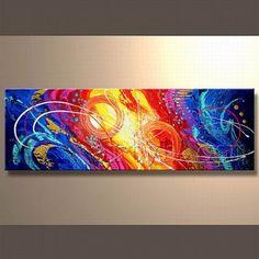 cuadros abstractos modernos para sala de colores