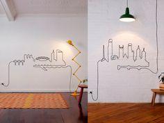 desenho com fios parede - Pesquisa Google