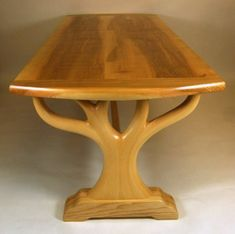 Tree of life dining table image 1 Diy Esstisch, Esstisch Design, Wood Table Design, Dining Table Design, Wood Furniture Legs, Table Furniture, Unusual Furniture, Modern Outdoor Sofas, Diy Dining Table