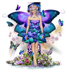 Designer Clothes, Shoes & Bags for Women Butterfly Fairy, Butterfly Dress, Disney Characters, Fictional Characters, Disney Princess, Dolls, Polyvore, Anime, Elves