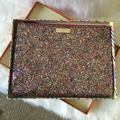 Kate Spade Sparkler Gia Clutch NWOT This clutch is so sparkly! New without tags but comes with box! Never used! kate spade Accessories