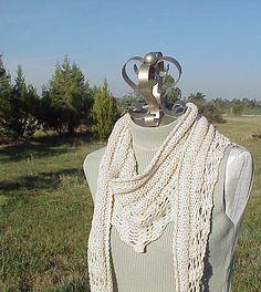 Ravelry: Gallatin Scarf pattern by Kris Basta - Kriskrafter, LLC Handtücher Kanten Gallatin Scarf Knit Or Crochet, Lace Knitting, Crochet Scarves, Free Crochet, Scarf Knit, Lace Scarf, Knitting Needles, Knitting Scarves, Knitted Shawls