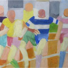 By Robert Delaunay (1885-1941), Runners, Oil on canvas, National Museum in Belgrade, Serbia. (Cubism)
