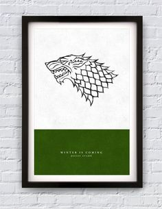 Game of Thrones  House Stark print 11X17 by Pixology on Etsy, $20.00