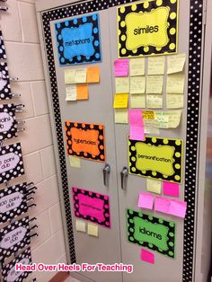 Students add Post-it when then find  figurative language in a book they're reading