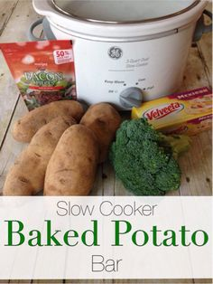 Don't feel like cooking when it's hot outside? These slow cooker baked potatoes are so easy to make and everyone will enjoy making their own.