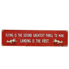 Pilot Humor Metal Signs - from Sporty's Wright Bros Collection