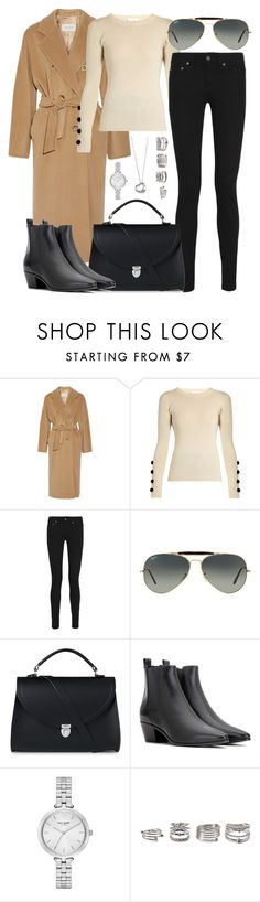 """""""Untitled #2628"""" by briarachele ❤ liked on Polyvore featuring MaxMara, See by Chloé, Yves Saint Laurent, Ray-Ban, The Cambridge Satchel Company, Elsa Peretti, Kate Spade and Forever 21"""