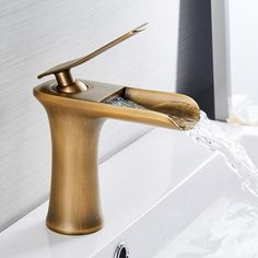 Basin Faucets Waterfall Bathroom Faucet Single handle Basin Mixer Tap Bath Antique Faucet Brass Sink Water Crane Silver 6009 is exceptional designs, futuristic Bath Taps, Bathroom Basin, Small Bathroom, Master Bathrooms, Concrete Bathroom, White Bathrooms, Luxury Bathrooms, Bathroom Ideas, Dream Bathrooms