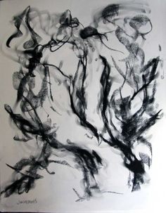 """Abstract Female Nude Drawing Two Women. 26""""x22"""" charcoal drawing on canson mi-teintes paper Drawing from life, focus was on immediacy and purity of expression, minimalist and clean which results in an elegant undulating form. This artwork is created and ready to ship."""