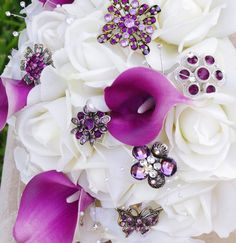 Brooch Wedding Off White Natural Touch Roses and by Wedideas, $139.00