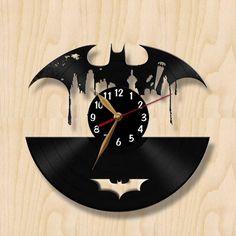 Batman disque vinyle horloge murale. Noir par VinylImage sur Etsy