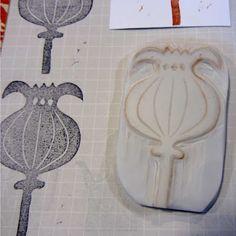 RoBruhn.blogspot.com - hand carved stamps 2-6-12
