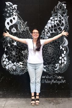What Lifts You | street art wings NYC | Kelsey Montague Art