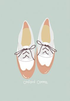 oxford comma - .babyc.  shoe sketch