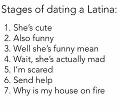 Stages of dating a latino man