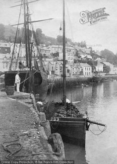 Photo of Looe, 1906 from Francis Frith Looe Cornwall, Fishing Villages, Interesting Stuff, Sailing Ships, Holiday Fun, Madness, Britain, Boats, Illustrations