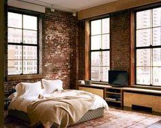 50 fotos e ideas para decorar con ladrillos vistos las paredes del dormitorio. | Mil Ideas de Decoración
