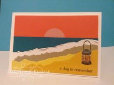 Carolina Evans - Stampin' Up! Demonstrator, Melbourne Australia: Beach Card using From Land and Sea #PP258